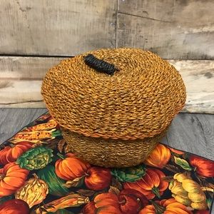 Pumpkin Halloween vintage fall basket decoration
